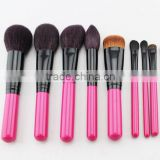 top quality 8pcs animal hair make up brushes set