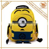 2015 Popular 3D Stuart Kids School Bag Minions Backpack Bag                                                                         Quality Choice