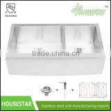 60/40 Double Bowl Stainless Steel Apron Front Farmhouse Sink New Premium