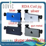 best quality E-cig accessories RBA/RDA atomizer coil jig with 5 sticks 4 colors black/blue/silver/gun metal in stock