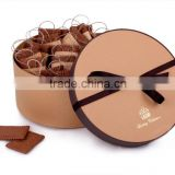 Custom FSC round paper printed box/cardboard food gift box /biscuit cookie box packaging