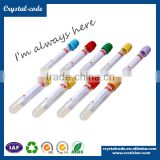 Fast delivery clear pet hot stamping waterproof adhesive test tubes label with screw caps