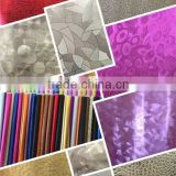 PVC synthetic leather manufacturer with shining surface for decoration & handbags usage