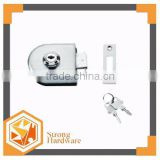 GL-02ES Stainless steel glass door latch lock,frameless sliding glass door pivot clamp lock