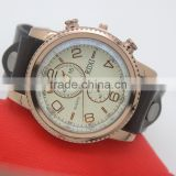 Build your watch brand easily big man vintage watch genuine real leather strap quartz watches