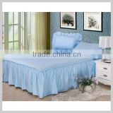 high quality fashion colorful elegant home useful textile cotton bed skirt with fitted sheet