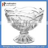 LongRun 2014 personalized fancy glassware beautiful flower pressed ice cream cup wholesale