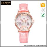New models from Doris Watch fashion design pink spot dial Japan movt women's wrist latest watches