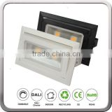 Ceiling Recessed Pandent Mounted 45w 4000LM Rectangular Rotating LED Downlight for Shops with CREE COB Meanwell Driver