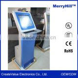 Queue Management System 15/17/18.5/19/22 inch Stand Tablet Kiosk Metal Keyboard