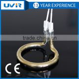 Short wave circular infrared quartz heating lamp with gold reflector for plastic welding