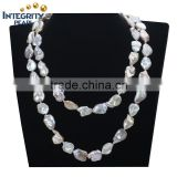 wholesale pearl necklace 13mm freshwater Keshi pearl Chinese pearl necklace