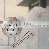 Diameter 50mm Dandelion Fountain Nozzle, small pipe-shaped nozzles radiating form a central globe