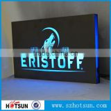 Custom wall mounted acrylic acrylic led backlit sign acrylic led logo sign acrylic light box