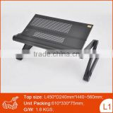 Multipurpose folding portable adjustable computer keyboard stand