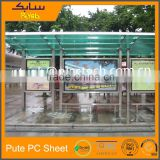 lightweight polycarbonate cellular polycarbonate for outdoor bus shelter