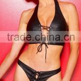 2015 hot sale SexyTwo Piece Swimsuit Brazilian Cut Leather Bikini