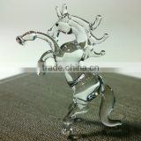 Tiny Crystal Horse Hand Blown Clear Glass Art Figurines Wild Animal Collection Home Decor