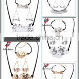 No.1 yiwu exporting commission agent wanted latest chain necklace/earrings/bracelet jewelery set for woman