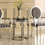 stainless steel louise ghost clear chair , lucite ghost chair