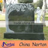 Cemetery tree style black granite monument tree headstone design NTGT-448A