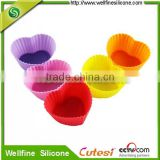 Mini Heart Silicone Muffin Pan For Promotion