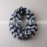 Black chevron petti scarf neck warmer winter scarf for baby and woman chevron petti scarf