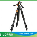 BILDPRO AK-324 Big Quick Release Plate Fluid Head Tripod Telescopic Stand