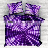 Indian Handmade Tie Dye Bedspread Hand Dyed Shibori Bedding Set King Cotton Bed Cover Set