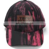 Cap factory high quality custom 6 panel leather patch logo baseball cap/hat