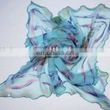 Ladies printed silk-like polyester scarf