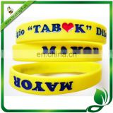 custom Sports ink-filled silicone bracelet for promotion