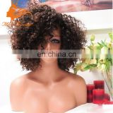 Best Short Cut For Lace Front Curly Hair Wig Unprocessed Peruvian Hair Short Curly Wig For Black Women With Baby Hair