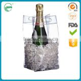 2016 high quality and hot sale popular colorful transparent pvc ice bag for wine package