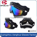 Mirrored dirt bike motorcycle helmet safety sunglasses foam padded uv safety goggles