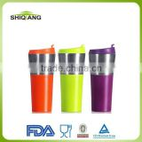 450ml China Wholesale Colored Double Wall Stainless Steel Promotional Auto Mugs And Cup With Leakproof Lids