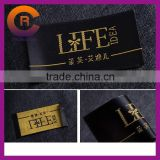 Gold logo printed factory price cheap handmade clothing woven label