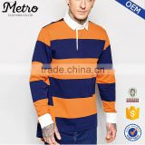 china wholesale custom logo long sleeve men striped polo shirt                                                                         Quality Choice