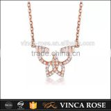 Hot Selling both elegant and exquisite rose gold plated silver butterfly pendant necklace