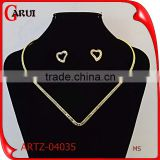 fashion jewelry diamond heart shape african beads jewelry set                                                                                                         Supplier's Choice