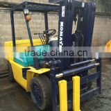 Used condition TCM FD50 5T forklift with 3 stages second hand toyota FD50 5t lifter used diesel engine 5t forklift with 3 stages