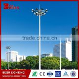 High power 15m high mast light for outdoor solar led powered street light with flood light