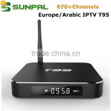 iptv box T95 Metal Case free web tv internet iptv stb global tv box arabic iptv box french iptv apk account on sale                                                                                                         Supplier's Choice