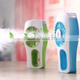 2016 Handheld Water Mist Fan Mini USB Rechargeable Carry-on Humidifier Desktop Fan Water Supply Fan For Cool Summer
