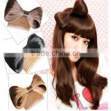 synthetic chignon hair wig accessory with clip