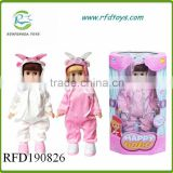 Induction beautiful girl walking doll with recording rc doll