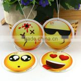 wholesale new custom facial expression design unscented air freshener paper