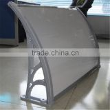 Polycarbonate outdoor swing cushion canopy rain cover awning for sale with plastic or aluminum brackets supports