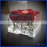 wholesale custom gift box clear acrylic flower packing gift box for sale manufacturer                                                                         Quality Choice