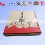 Colorful new decorative corrugated pizza packing box